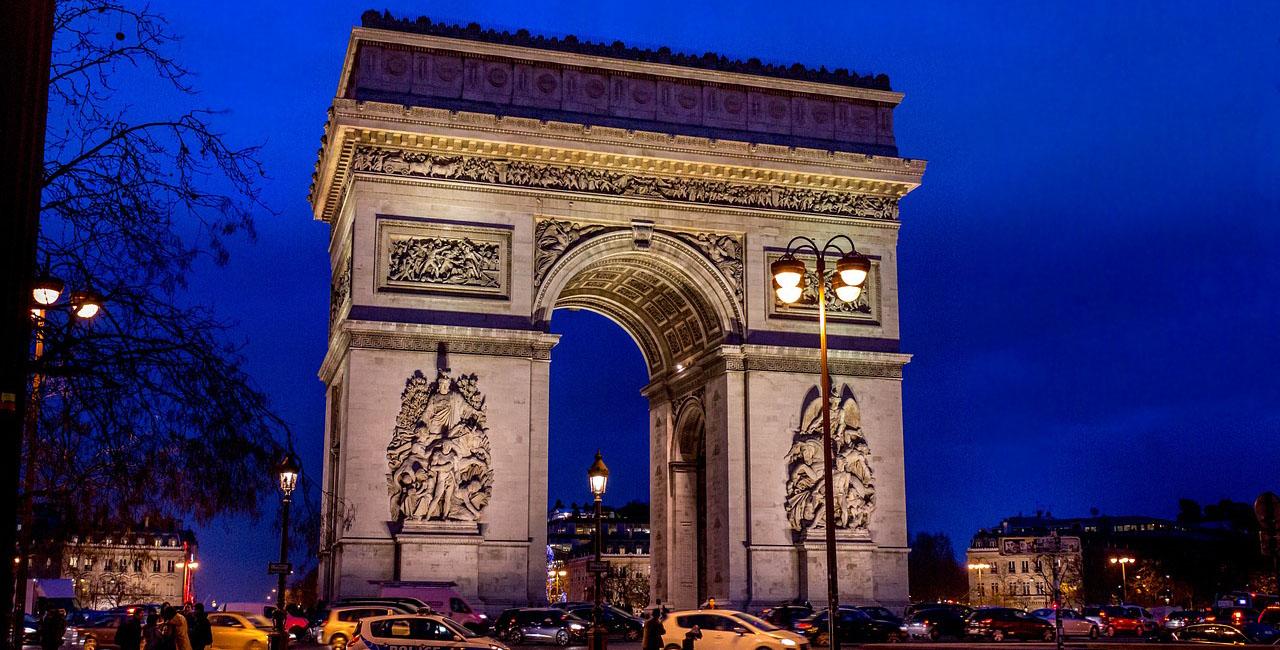 Париж. Вечерний выезд из регионов севера Германии